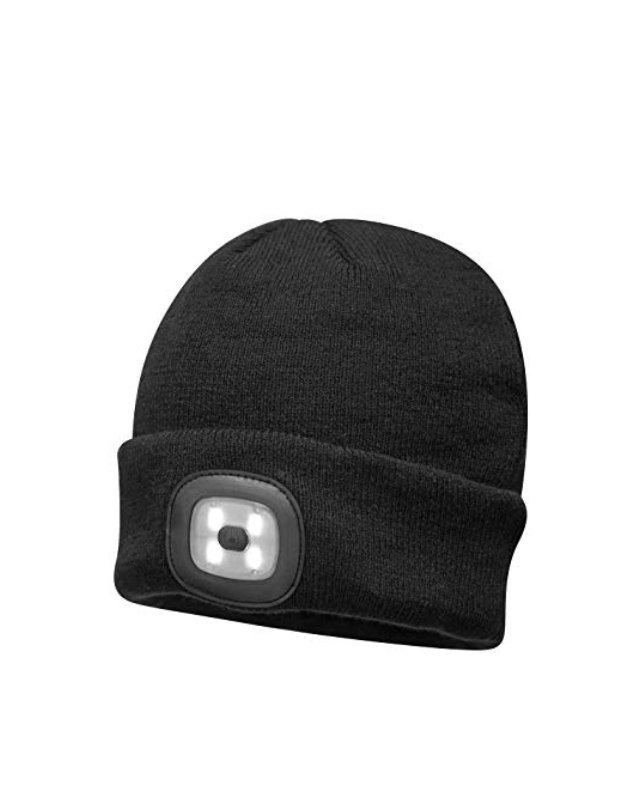 Beanie Rechargeable LED Black