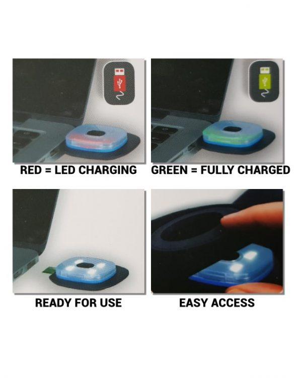 Portwest LED Beanie recharging instructions