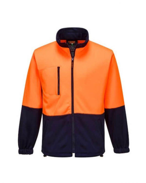 PRIME MOVER Hi-Vis Water Repellent Brush Fleece Jacket