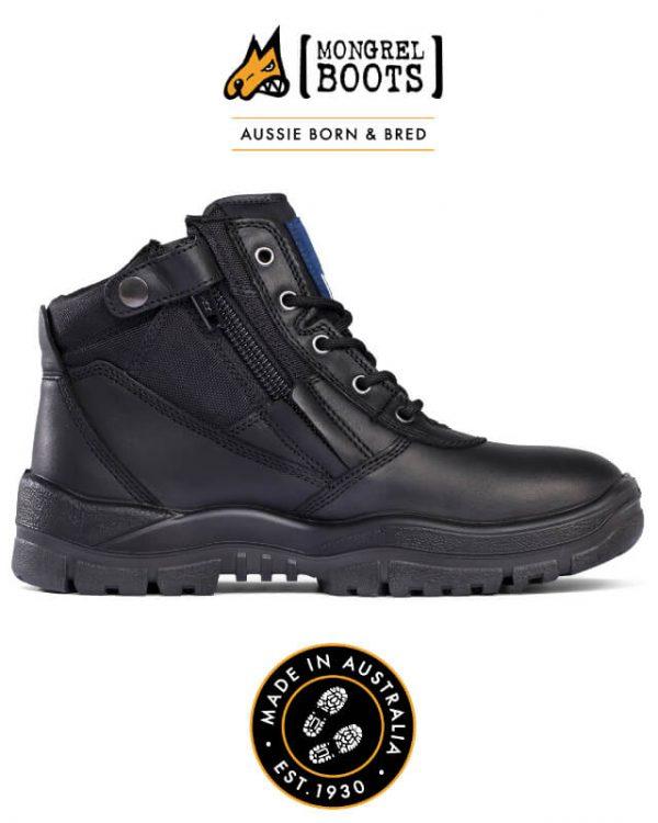 Mongrel Boot Zipsider Black 261020