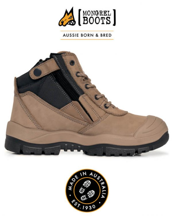 MONGREL ZIPSIDER BOOT WITH SCUFF CAP 461050 | 461060