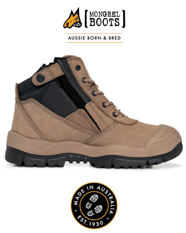 Boot Zipsider Scuff Cap Stone 461060