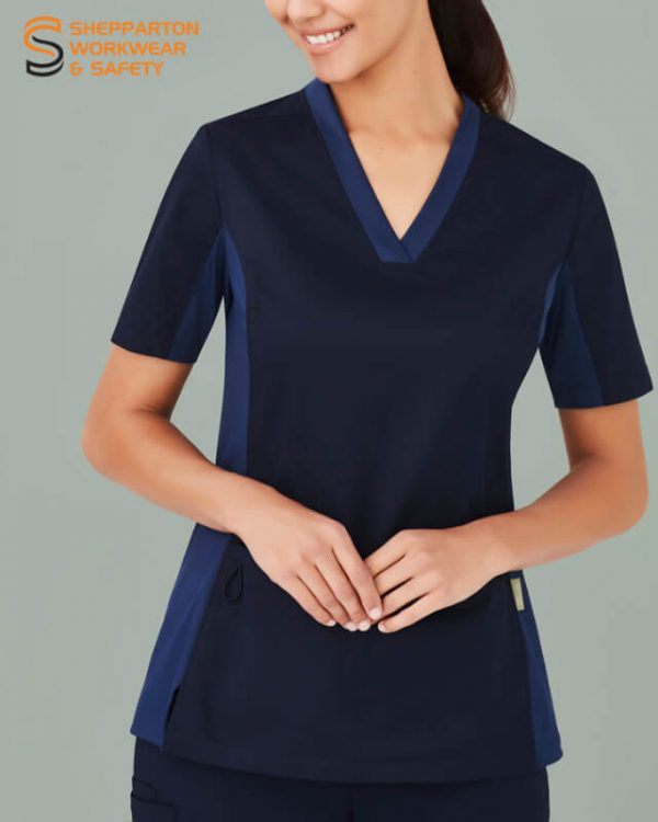 Biz Care Riley Womens V-Neck Scrub Top