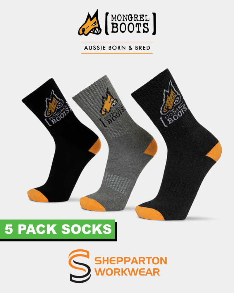 Mongrel socks pack of 5